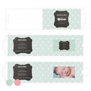 Baby Square Mint ChangeCard geboortekaart