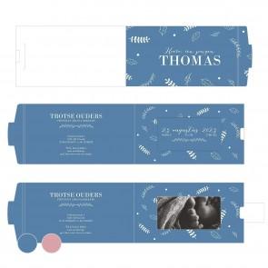 Dreaming Nacht Blauw ChangeCard geboortekaart