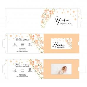 Peach Dots ChangeCard geboortekaart