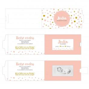 Pink Perfect ChangeCard geboortekaart