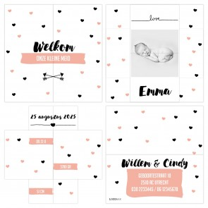 Heart Dots Turning Card
