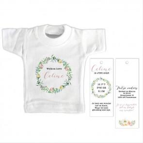 Pretty Floral Mini T-Shirt Geboortekaartje