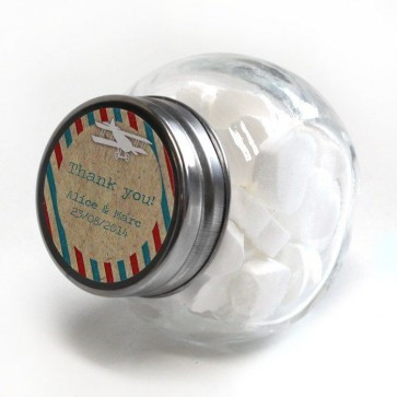 Airmail Candy Jar wedding favour
