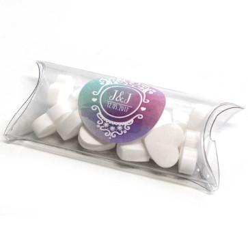 Colourful Splash Mini Pillow Box wedding favours