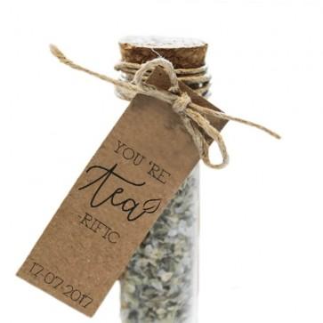 Tea-rific Herbal Gift Tube wedding favours