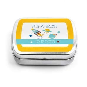 Space baby shower Mint Tins