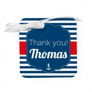 Sailor Baby Shower Favour Tags