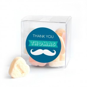 Moustache baby shower Candy Cubes