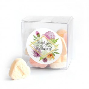 Floral Candy Cube wedding favour