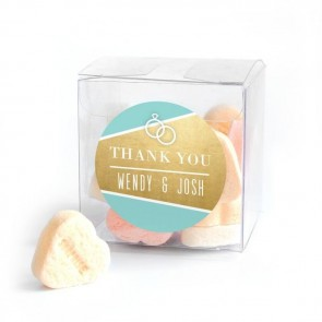 Gold Foil Candy Cube wedding favour