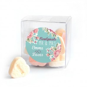 Vintage Rose Candy Cube wedding favour