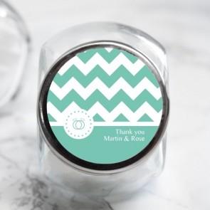Pastel Chevron Candy Jar