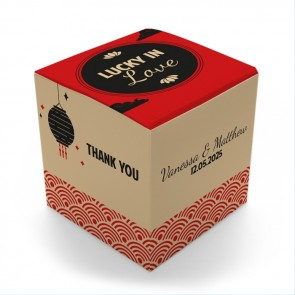 Chinese Luck Fortune Cookie Box wedding favours
