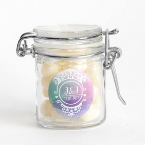 Colourful Splash Weck Jar wedding favour