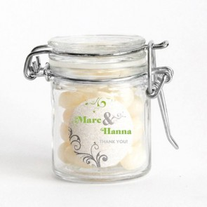 Elegant Weck Jar Wedding Favours