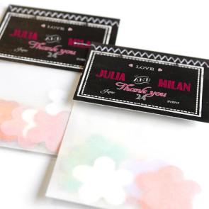 Chalk Flower Bags