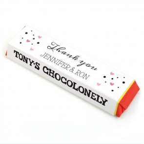Heart Tony Chocolonely Chocolate Bar Favour