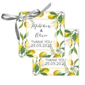 Lemon Wedding Tags