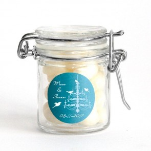 LoveBirds Weck Jar wedding favour