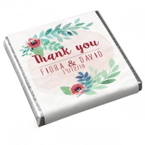 Peonies Fanfare Mini Chocolates design
