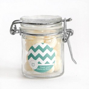 Pastel Chevron Weck Jar Wedding Favour