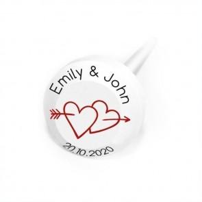 Arrow Heart personalised Lollipops