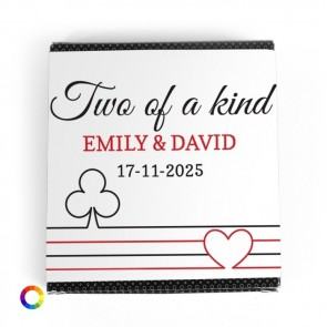 Create Your Own wrapper for the Heart-Shaped Playing Cards wedding favours