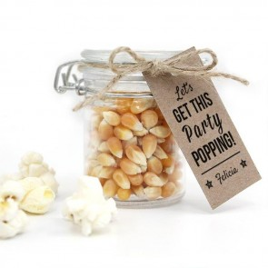 Party Popping Baby Shower Popcorn Weck Jar