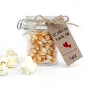 Popping Hearts Baby Shower Popcorn Weck Jar