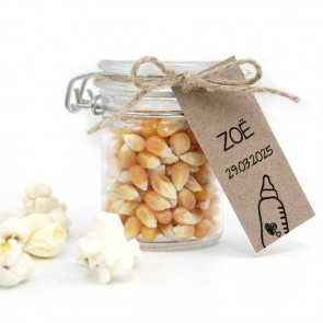 Sweet Bottle Baby Shower Popcorn Weck Jar