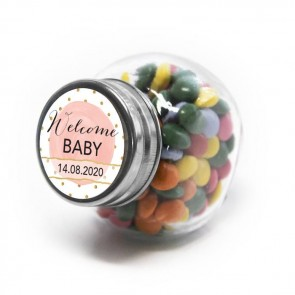 Gold & Pink Candy Jar Baby Shower favours