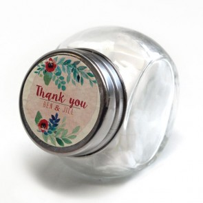 Rustic Garden Candy Jar wedding favour