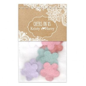 Chalk Flowerbags wedding favours