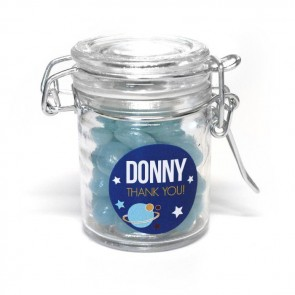 Weck jar baby shower favour Space