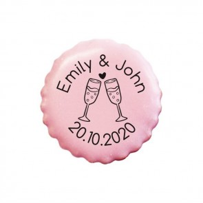 Champagne personalised Cookies