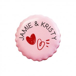 Hearts wedding favour cookies