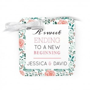 Rose Garden Wedding Tags