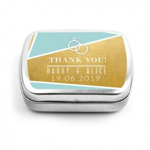 Gold Foil Wedding Mint Tins