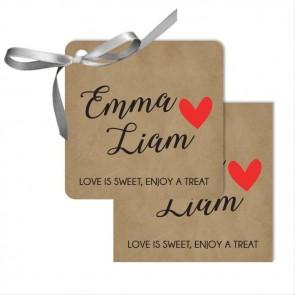 Craft Heart Wedding Tags