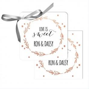 Flower Crown Wedding Tags