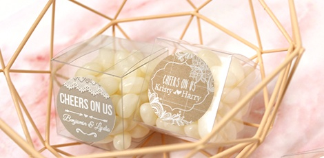 Personalised Candy Cube Wedding Favours