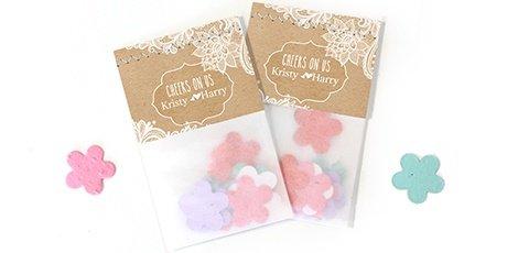 flowerbags wedding favours gold foil design