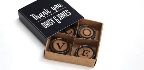 galaxy design typewriter magnets favours