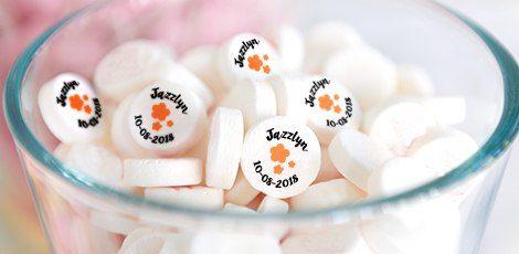 custom printed baby shower mints