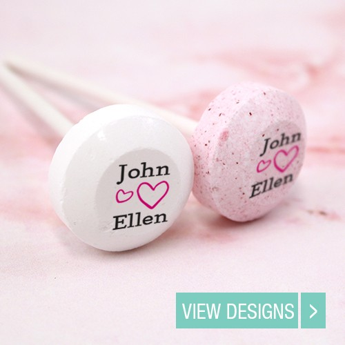 Personalised Wedding Lollipops Wedding Favours