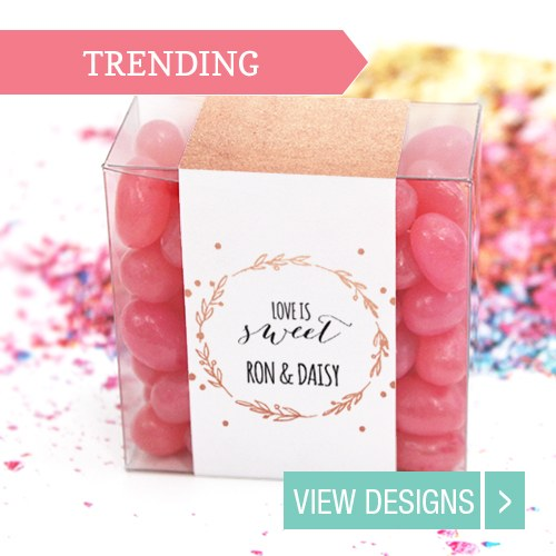 wedding favour box candy square