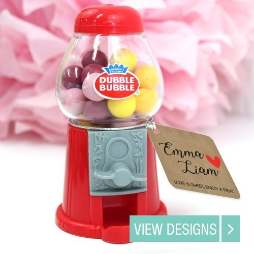 Gumball wedding favour