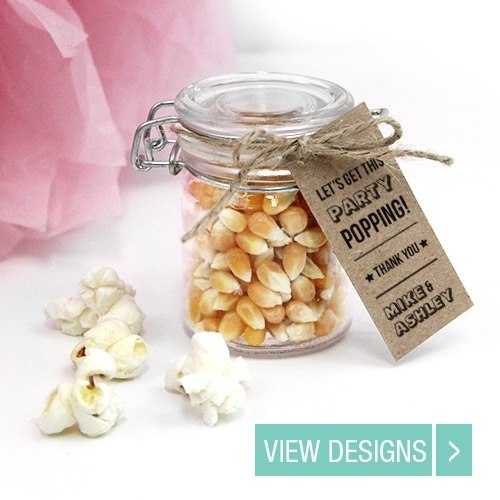 Popcorn Wedding Favours Weck Jar