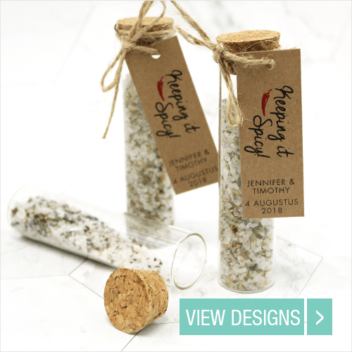 Personalised Herbal gift tubes Wedding Favours