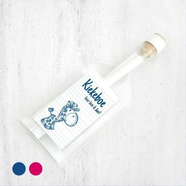 Doodle Flessenpost Geboortekaartje Blauw